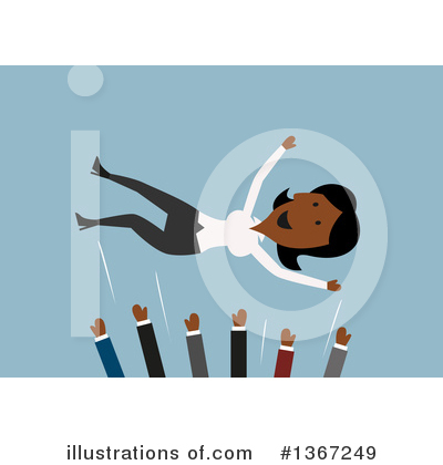 Black Businesswoman Clipart #1367249 by Vector Tradition SM