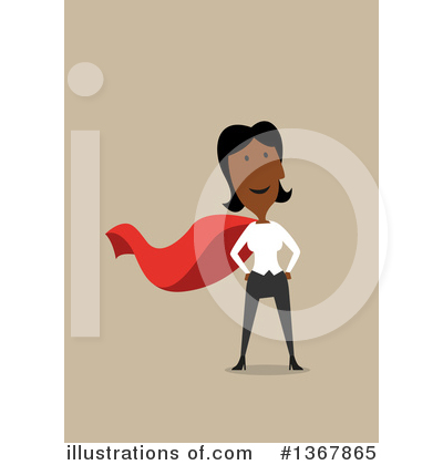 Black Businesswoman Clipart #1367865 by Vector Tradition SM