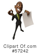 Black Businessman Character Clipart #57242 by Julos