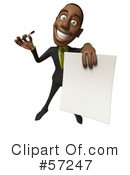 Black Businessman Character Clipart #57247 by Julos
