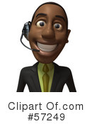 Black Businessman Character Clipart #57249 by Julos