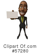 Black Businessman Character Clipart #57280 by Julos