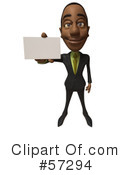 Black Businessman Character Clipart #57294 by Julos