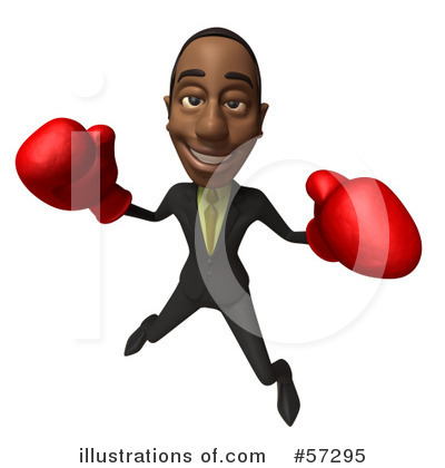 Royalty-Free (RF) Black Businessman Character Clipart Illustration by Julos - Stock Sample #57295