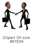 Royalty-Free (RF) Black Businessman Character Clipart Illustration #57299