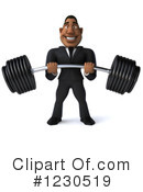 Black Businessman Clipart #1230519 by Julos