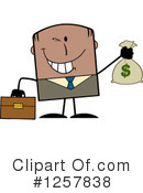 Black Businessman Clipart #1257838 by Hit Toon