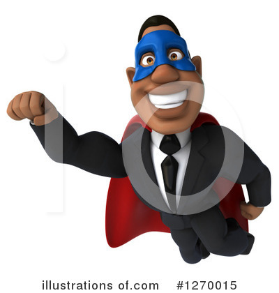 Royalty-Free (RF) Black Businessman Clipart Illustration by Julos - Stock Sample #1270015
