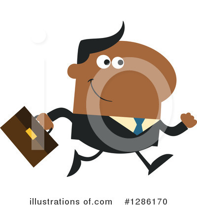Black Businessman Clipart #1286170 by Hit Toon