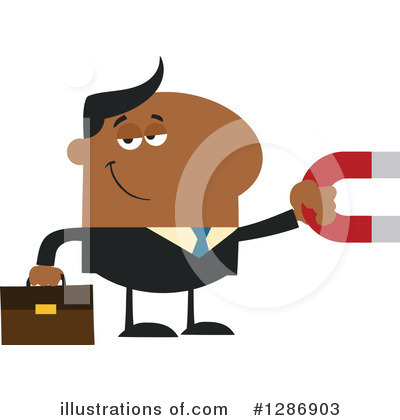 Black Businessman Clipart #1286903 by Hit Toon