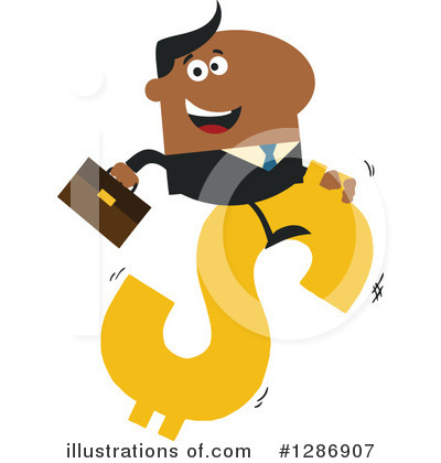 Black Businessman Clipart #1286907 by Hit Toon