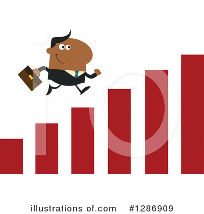 Black Businessman Clipart #1286909 by Hit Toon