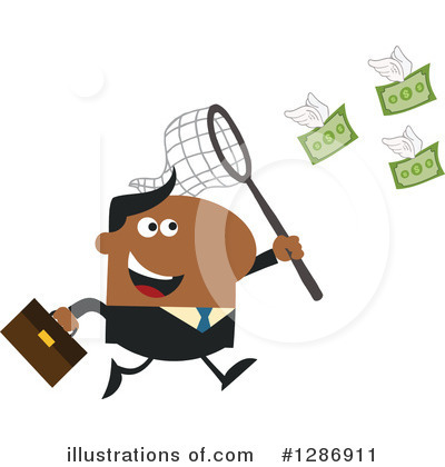 Black Businessman Clipart #1286911 by Hit Toon