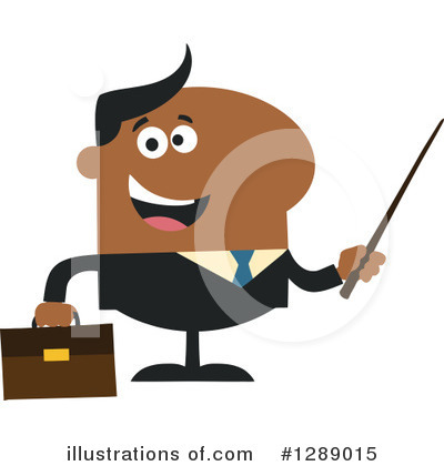 Black Businessman Clipart #1289015 by Hit Toon