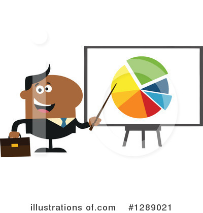 Black Businessman Clipart #1289021 by Hit Toon