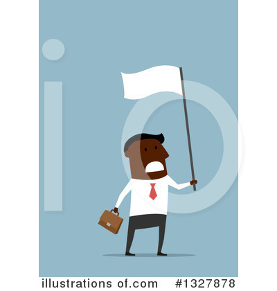 White Flag Clipart #1327878 by Vector Tradition SM