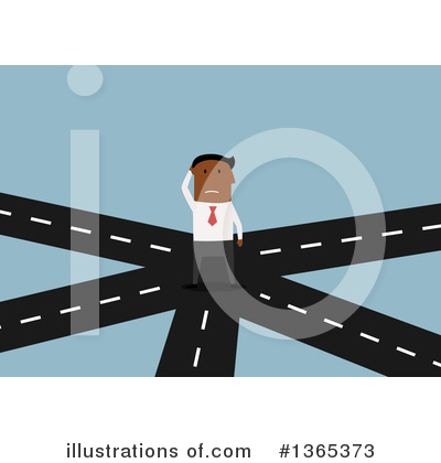 Cross Roads Clipart #1365373 by Vector Tradition SM