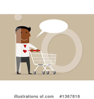 Shopping Cart Clipart #1367816 by Vector Tradition SM
