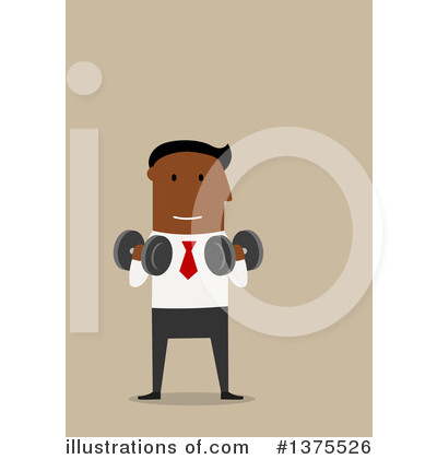 Black Businessman Clipart #1375526 by Vector Tradition SM