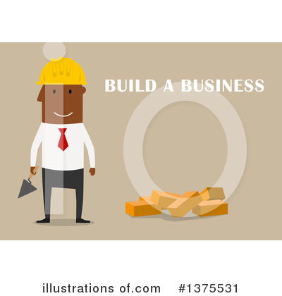 Black Businessman Clipart #1375531 by Vector Tradition SM