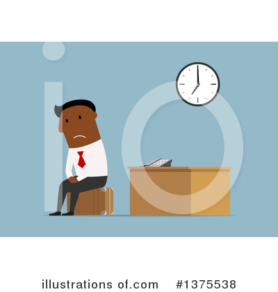 Black Businessman Clipart #1375538 by Vector Tradition SM