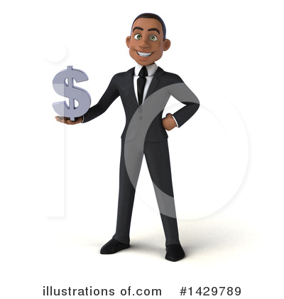 Young Black Businessman Clipart #1429789 by Julos