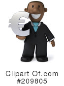 Royalty-Free (RF) black businessman Clipart Illustration #209805