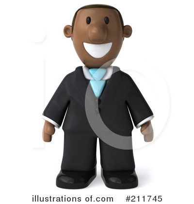 Black Businessman Clipart #211745 by Julos