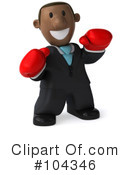 Royalty-Free (RF) Black Businessmen Clipart Illustration #104346