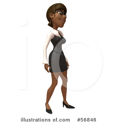 Black Businesswoman Character Clipart #56846 by Julos