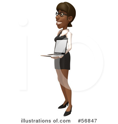 Black Businesswoman Character Clipart #56847 by Julos