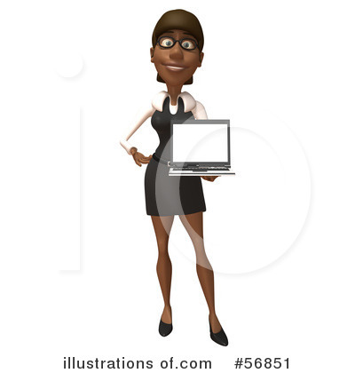 Black Businesswoman Character Clipart #56851 by Julos