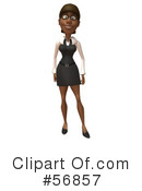 Black Businesswoman Character Clipart #56857 by Julos