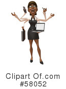 Royalty-Free (RF) black businesswoman character Clipart Illustration #58052