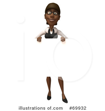 Black Businesswoman Character Clipart #69932 by Julos
