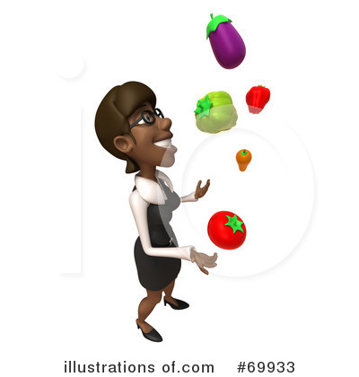 Black Businesswoman Character Clipart #69933 by Julos