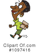 Black Businesswoman Clipart #1097416 by toonaday