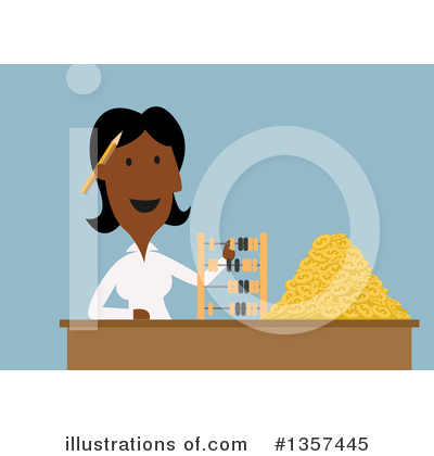 Black Businesswoman Clipart #1357445 by Vector Tradition SM