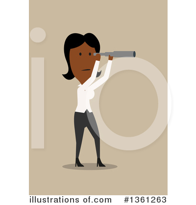Black Businesswoman Clipart #1361263 by Vector Tradition SM