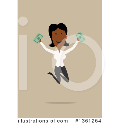 Black Businesswoman Clipart #1361264 by Vector Tradition SM