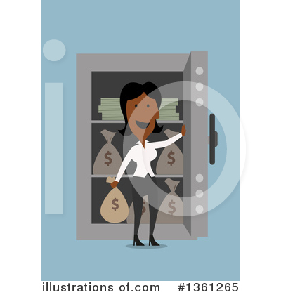 Black Businesswoman Clipart #1361265 by Vector Tradition SM