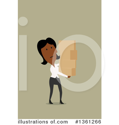 Black Businesswoman Clipart #1361266 by Vector Tradition SM