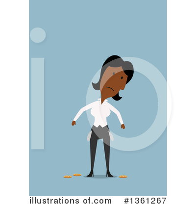 Black Businesswoman Clipart #1361267 by Vector Tradition SM