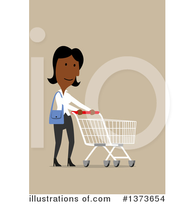 Royalty-Free (RF) Black Businesswoman Clipart Illustration by Vector Tradition SM - Stock Sample #1373654