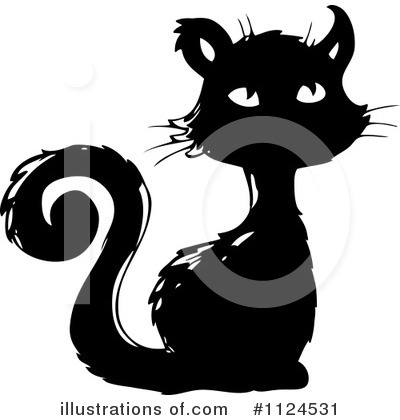 Black Cat Clipart #1124531 by visekart