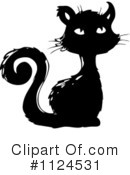 Royalty-Free (RF) Black Cat Clipart Illustration #1124531