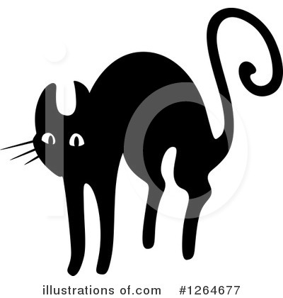 Scared Cat Clipart #1264677 by Vector Tradition SM