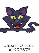 Black Cat Clipart #1273676 by Dennis Holmes Designs