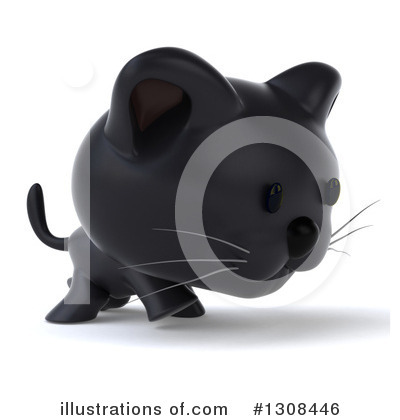 Black Cat Clipart #1308446 by Julos