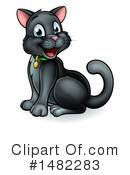 Black Cat Clipart #1482283 by AtStockIllustration